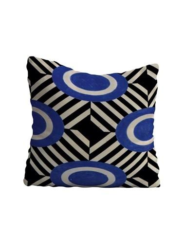 Lyn Home & Decor Mavi Siyah Desen Yastık Kılıfı 42X42 Renkli
